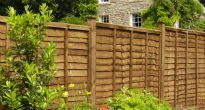 picture of waney panel fence