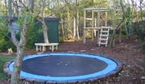 picture of a play area in a garden