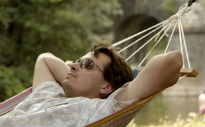 picture of man in hammock