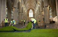 picture of turfing of York Minster