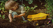 image of child gardening