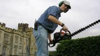 image of gardener at Penshurst Place