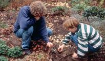 image of children planting
