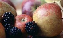 image of apples and blackberries