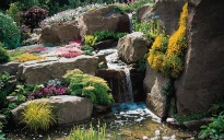 image of rockery with stream