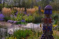 image of irrigation in rain garden