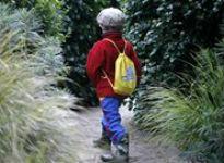 image of kid on path