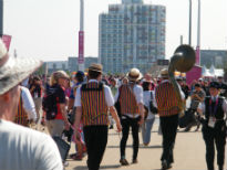 image of umpires at Olympic Park