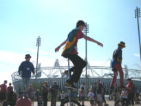 image of entertainers at Olympic Park