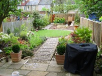 image of long thin garden after re-build