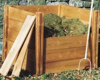 image of wooden compost bin