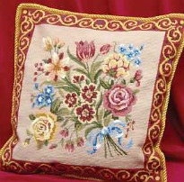 image of embroidered cushion