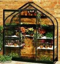 image of lean-to greenhouse