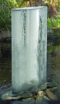 image of contemporary stone water feature