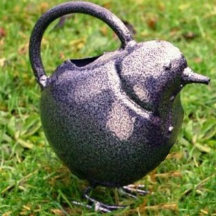 image of watering can in the shape of a bird