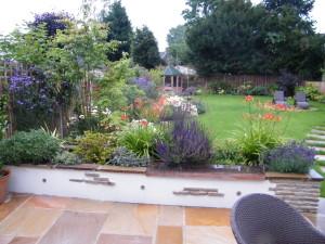 Traditional but Modern Garden - a-long-look-down-the-new-garden