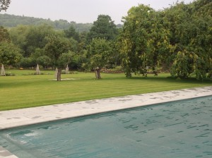 Croquet Anyone? - a-view-across-the-pool