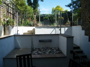 Glass Balustrade & Bi-fold Doors - blackheath-garden