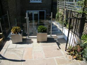 Glass Balustrade & Bi-fold Doors - blackheath-garden-design
