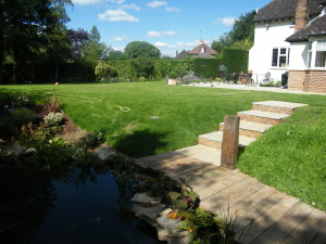 Country Garden with Natural Water Course - blue-skies-in-surrey