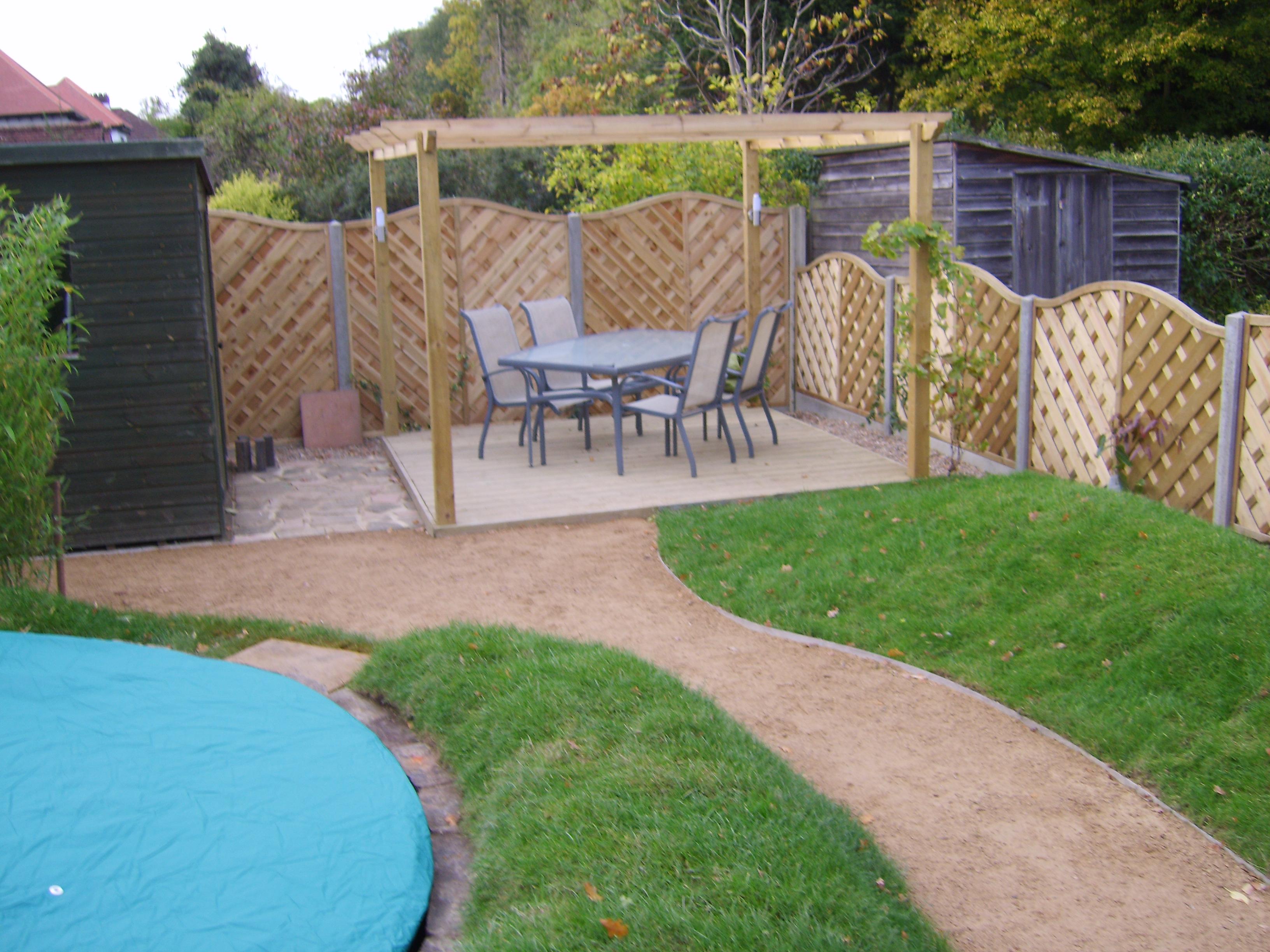 sunken trampoline bromley garden design - Garden Design Kids