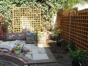 Garden for a New House - building-work