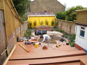 The Cat's Whiskers - deck-under-construction
