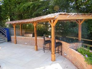 Garden Kitchen - finished-bbq