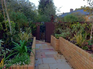 Secret at the End of the Garden - finished-beds-along-fencing