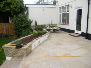 Traditional but Modern Garden - finished-patio-space
