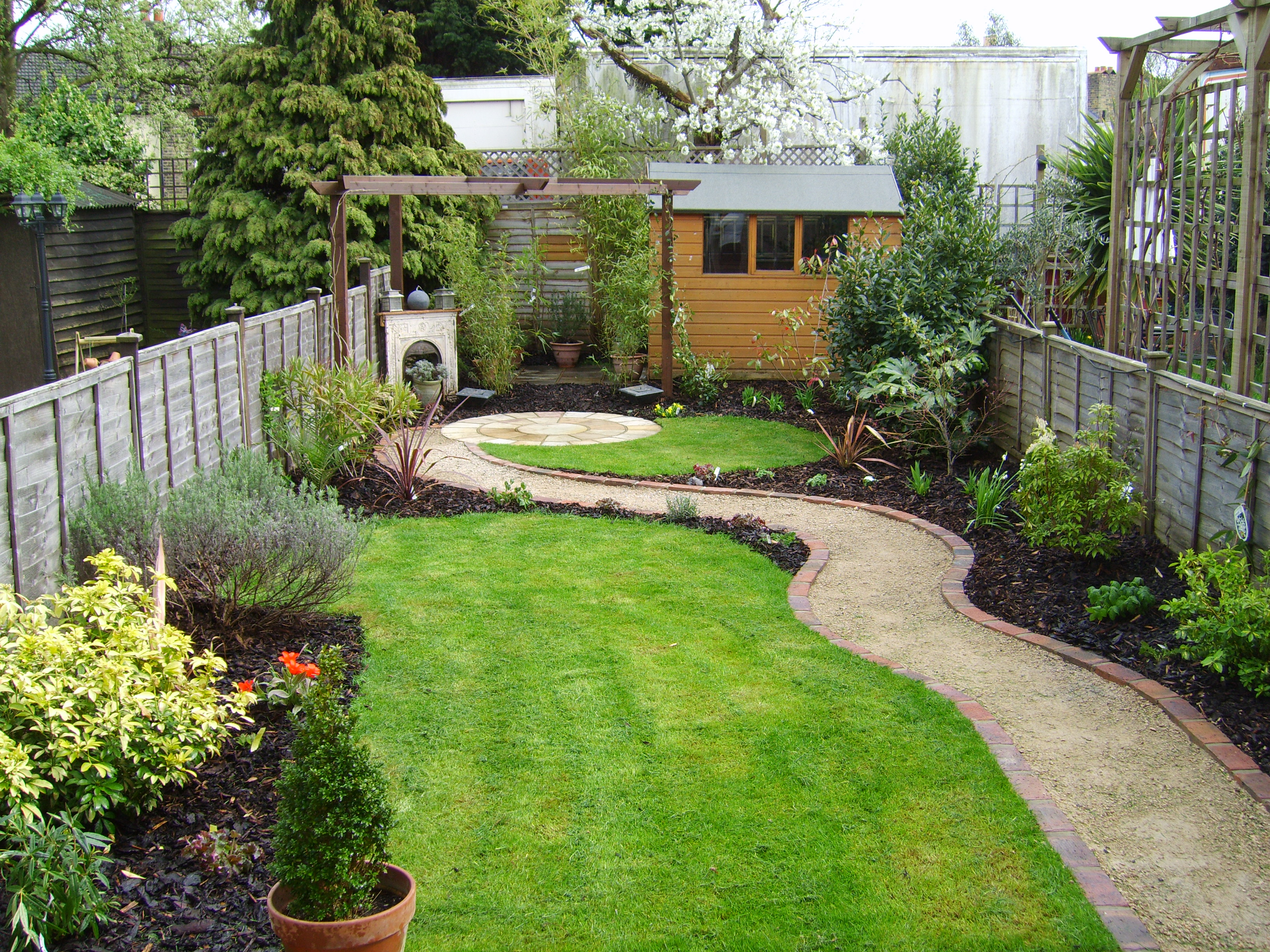 Small but perfectly formed floral hardy uk for Long thin garden designs