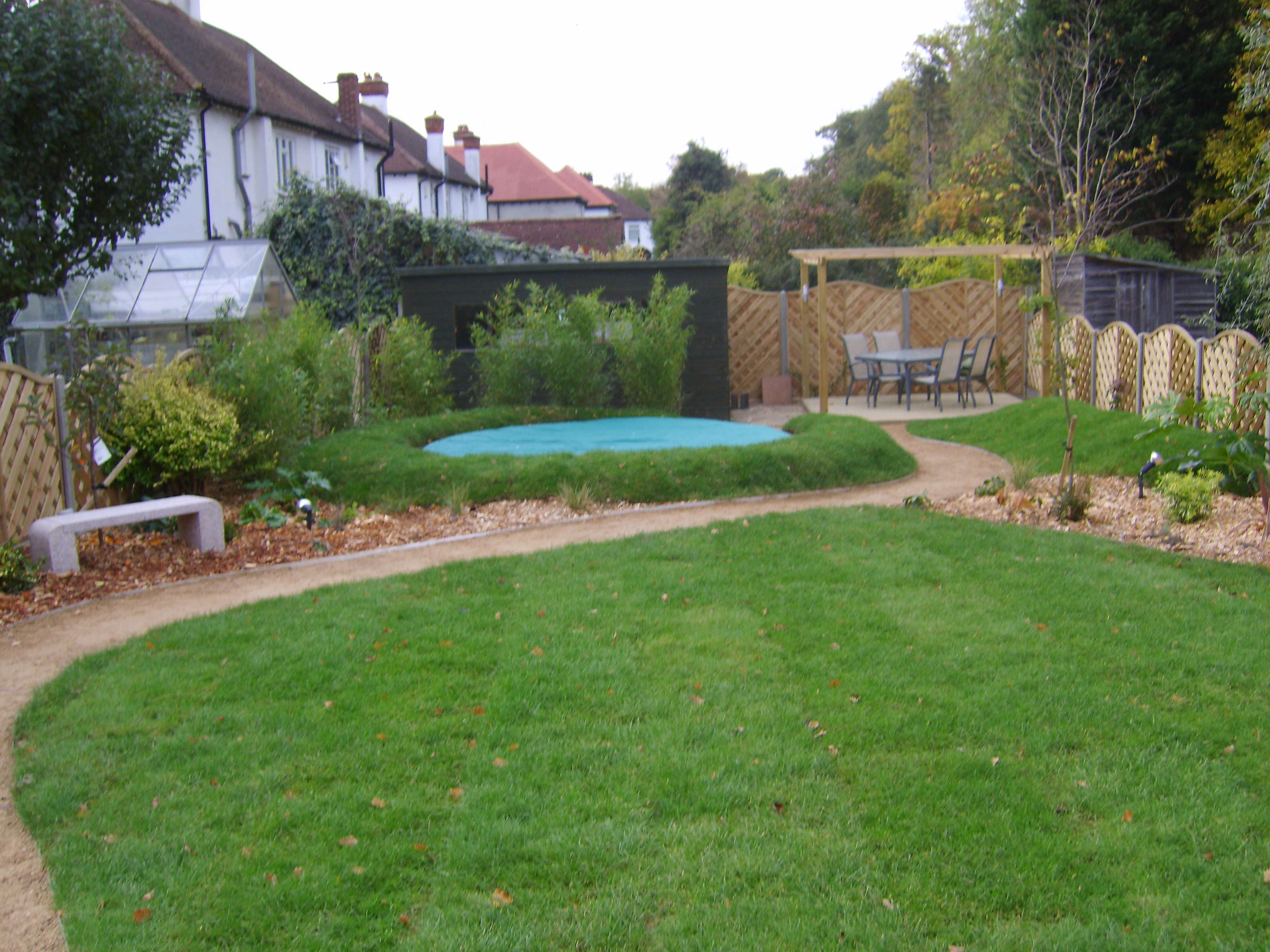 Interesting Garden Design With Trampoline Find This Pin And More