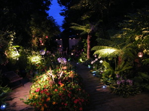Lush Tropical - garden-lighting-hayes