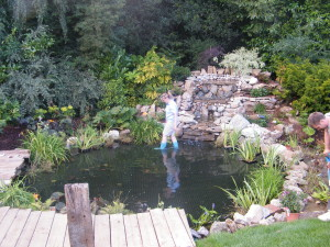 Country Garden with Natural Water Course - getting-wet