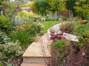 Modern & Traditional Meet - looking-down-the-garden-2