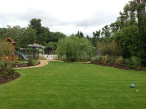 Pavilion and Pool House Garden - new-garden-in-otford