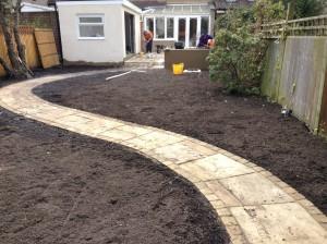 Artist's Garden - new-garden-path