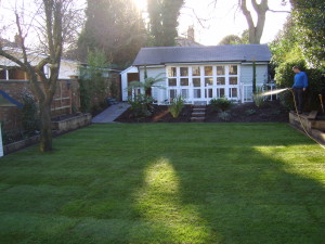 Pavilion Garden - new-lawn-planting-and-summer-house
