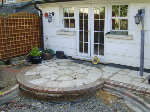 Garden for a New House - new-patio