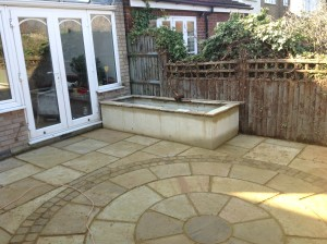 Artist's Garden - new-patio-and-bed