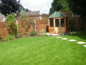 Traditional but Modern Garden - new-summer-house