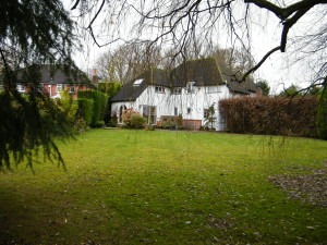 Country Garden with Natural Water Course - old-surrey-garden