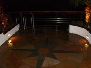 Contemporary Waterside - patio-lighting