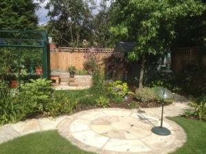 Artist's Garden - patio-and-path