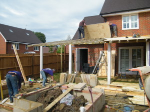 Colonial Character - porch-in-construction