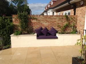 Upstairs, Downstairs - purple-seating
