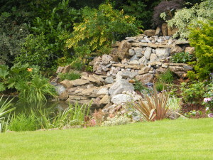 Country Garden with Natural Water Course - rockery