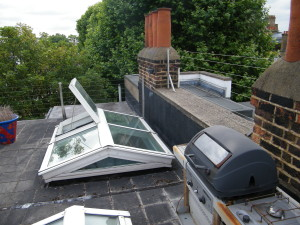 Up on the Roof - skylight-area