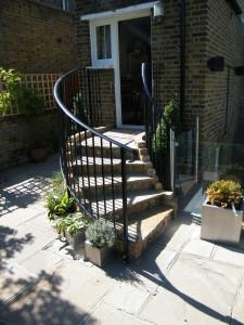 Glass Balustrade & Bi-fold Doors - steps-to-the-back-door