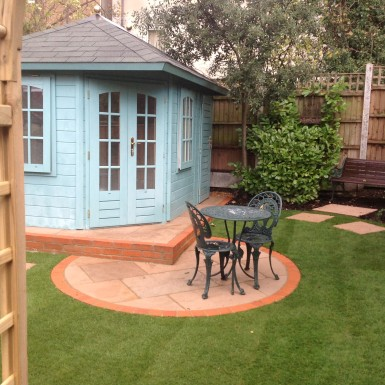 Summer house and seating